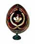 Crown RED Faberge Style Egg Large - Gift For Him