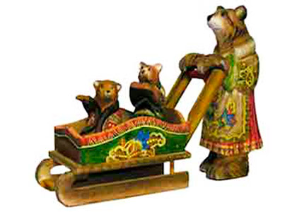 Good Mother Bear Wooden Carving 12