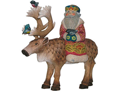 Caribou Taxi Wood Carving 8