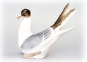 Porcelain Seagull Figurine - Where do seagulls sleep? On your knick-knack shelf!
