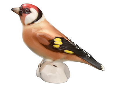 European Goldfinch Bird Figurine 3.5