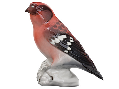 White-Winged Crossbill Bird Figurine 4.7