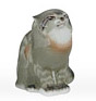 Porcelain Wildcat Figurine