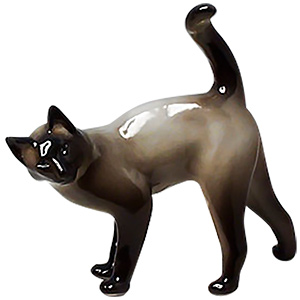 Siamese Cat Porcelain Figurine