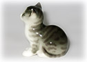 Little Gray Kitten Porcelain Figurine