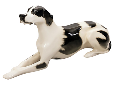 Black & White Pointer Dog Figurine