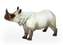 Large Rhinoceros Figurine