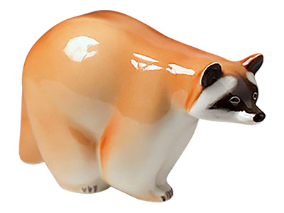 Walking Raccoon Figurine