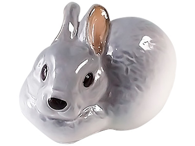 Small Gray Rabbit Figurine