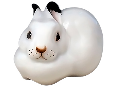Small White Rabbit Figurine