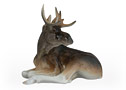 Young Bull Moose Figurine