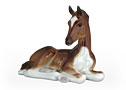 Bay Foal Lying Figurine