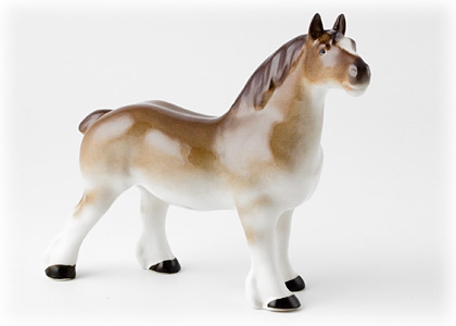 Percheron Horse Figurine