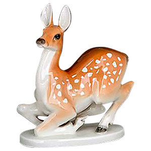 Porcelain Doe Figurine