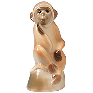 Monkey on Stand Figurine