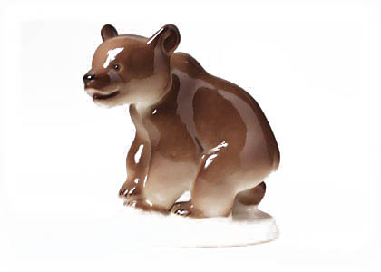 Grizzly Bear Cub Figurine
