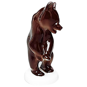 Upright Bear on Stand Figurine