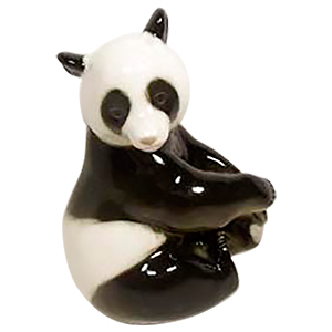 Large Sitting Panda Bear  Figurine