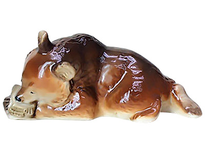 Bear Eating Honeycomb Figurine