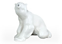This large Polar Bear sculpture has fur color that is so white he can blend right into the arctic ice.