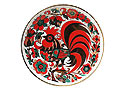 "Red Rooster Decorative Plate, 8"" - Porcelain Plates"