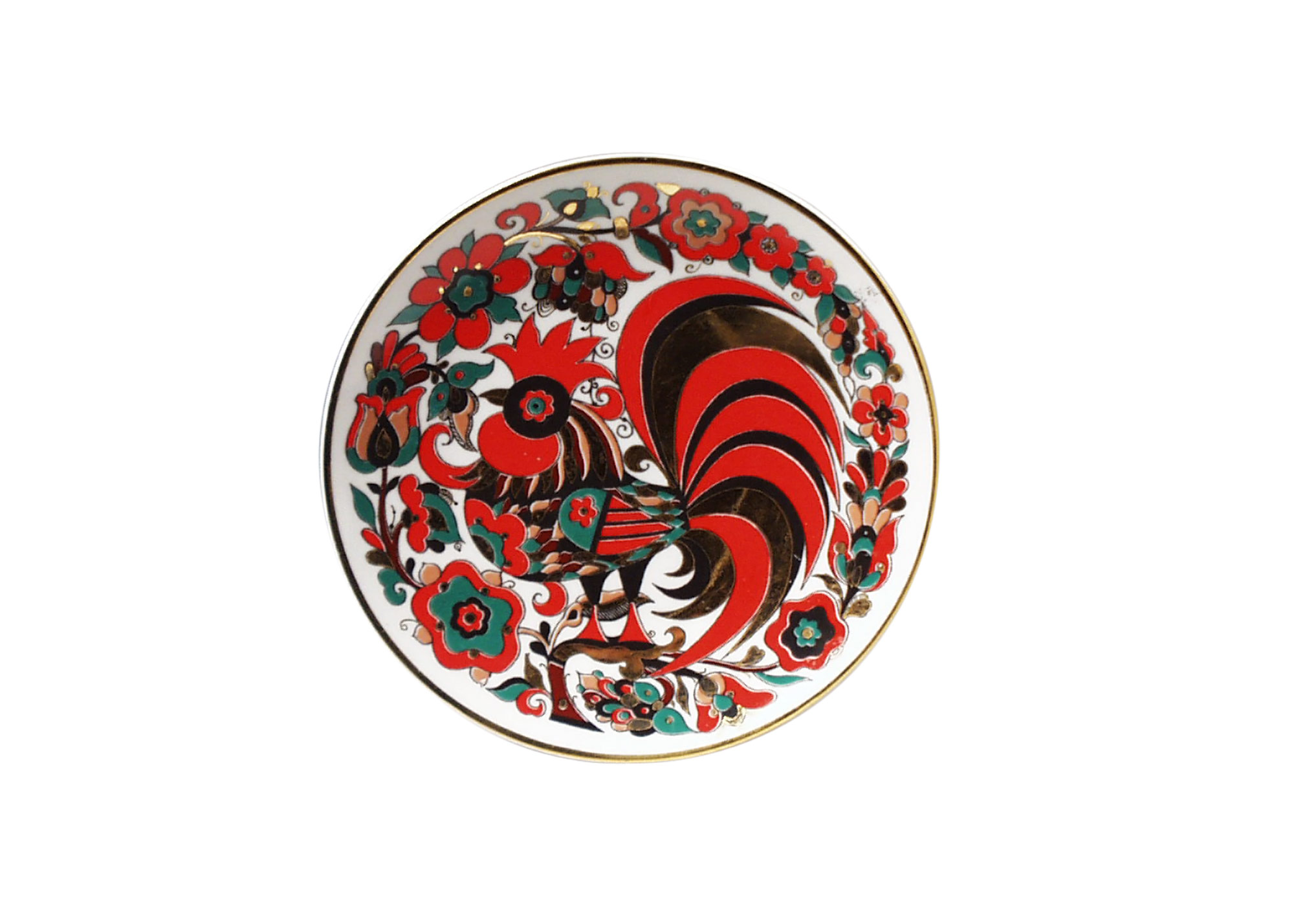 Red rooster decorative plate 8 porcelain plates for Decoration plates