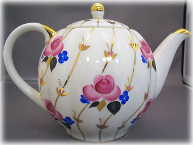 Antique Roses Porcelain Teapot