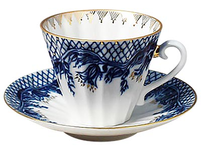 Blue Rhapsody  Cup and Saucer