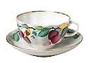 Cherry Tea Cup and Saucer - Porcelain Cups and Saucers