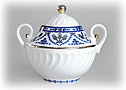 Cobalt Frieze Sugar Bowl - Lomonosov Porcelain