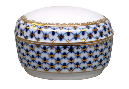 Cobalt Net Jewelry Box