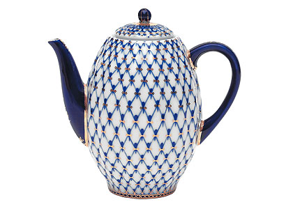 Cobalt Net Coffee Pot, 5 cup