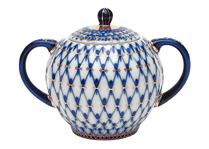 Cobalt Net Sugar Bowl