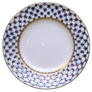 Cobalt Net Dinner Plate 9.5