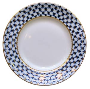 Cobalt Net Porcelain Dinner Plate 11