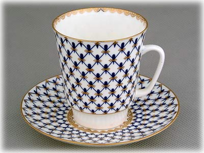Cobalt Net Bone China C/S May-shape