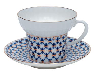 Cobalt Net Bone China C/S Wave-shape