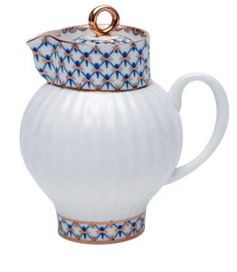 Cobalt Net Bone China creamer
