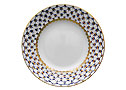 Cobalt Net Bone China Dessert Plate