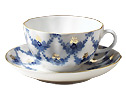 Evening Time Tea Cup and Saucer - Porcelain Cups and Saucers