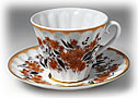 Fall Flowers Cup and saucer