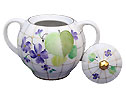 Forest Violet Sugar Bowl - Lomonosov Porcelain