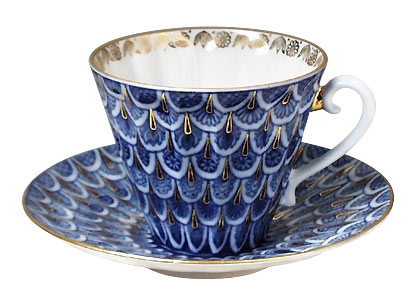 Forget-Me-Not Porcelain Cup & Saucer