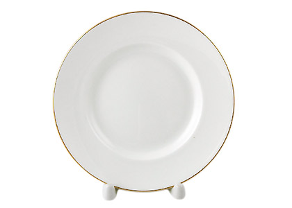 Golden Edge Dessert Plate, Bone China DANDELION