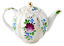 Golden Grass Teapot - Porcelain Teapots