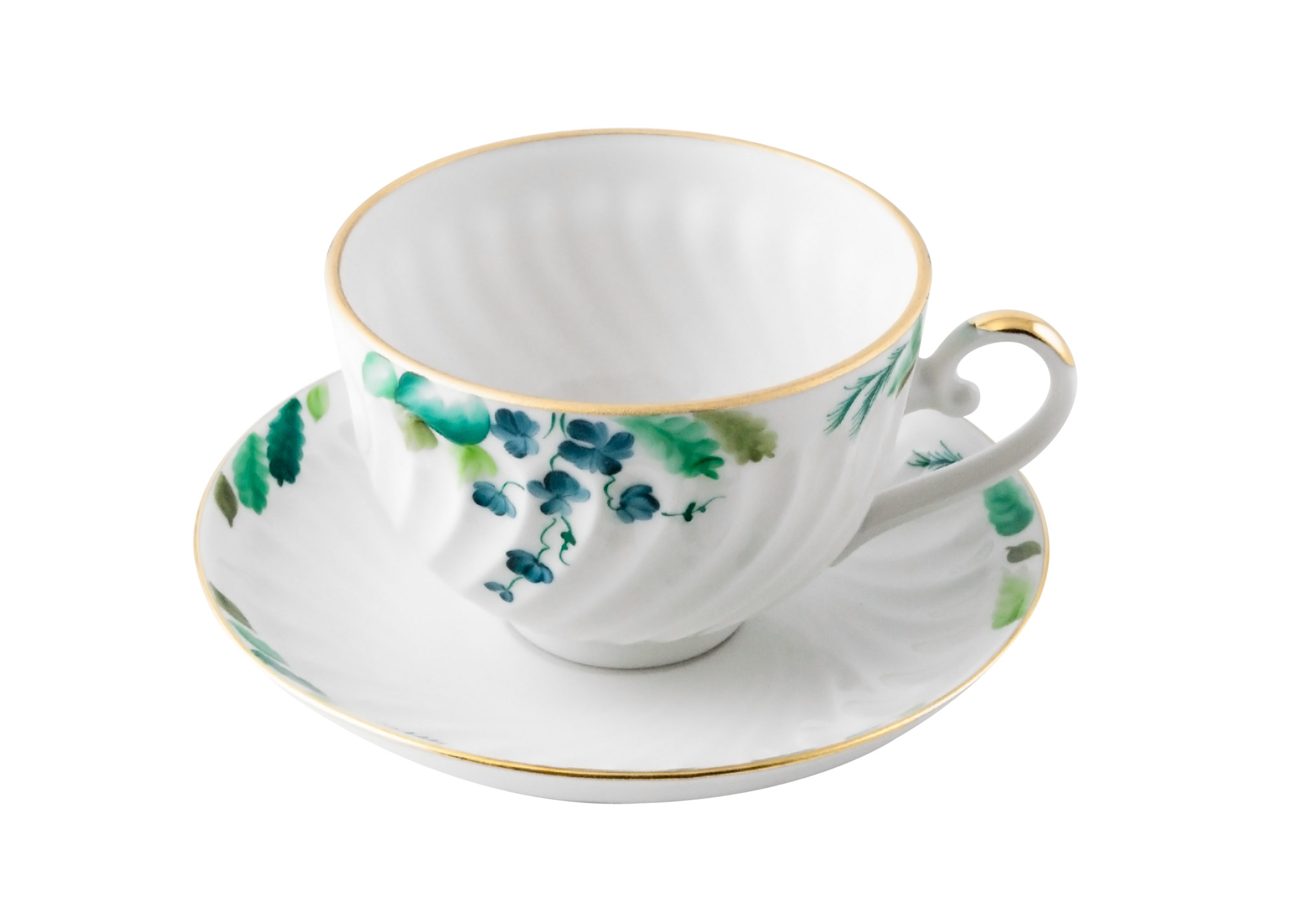 in the garden tea cup and saucer porcelain cups and saucers. Black Bedroom Furniture Sets. Home Design Ideas