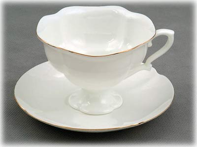 Katarina Cup and Saucer, Bone