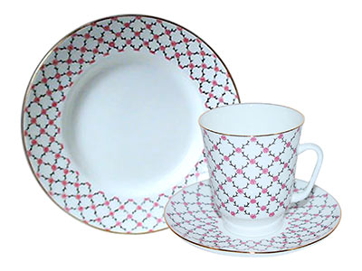Pink Net Cup and Saucer May Shape