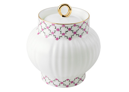 Pink Net Sugar Bowl