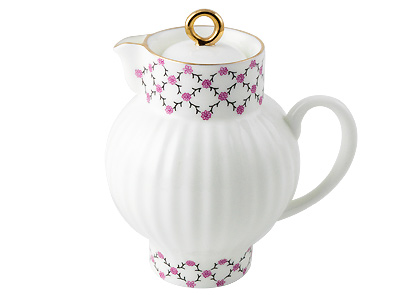 Pink Net Creamer, Bone China